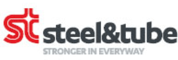 A logo with the words steel and tube, stronger in everyway written on it